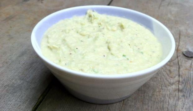 garlic scape white bean dip