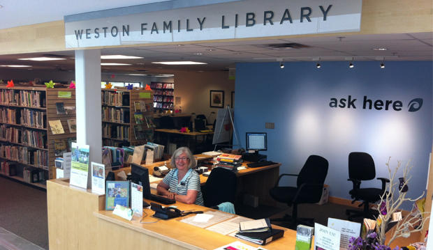 weston family library entrance