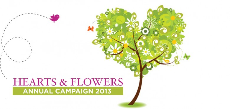 hearts and flowers 2013 header