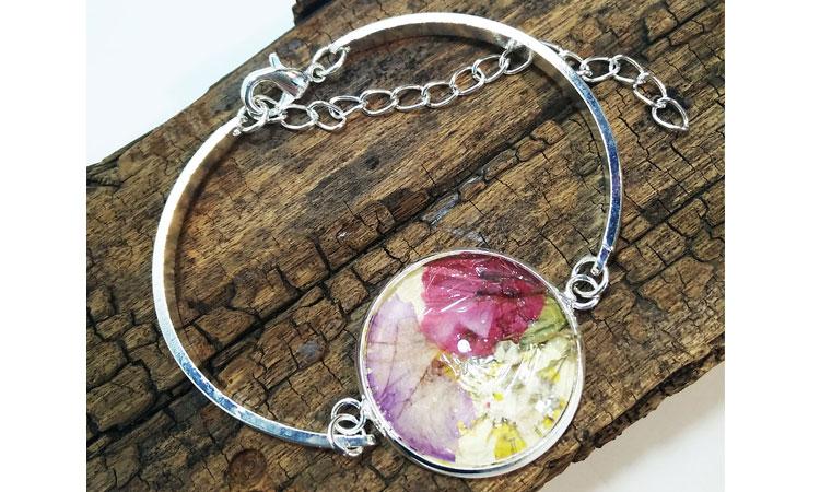 Flower-pressed Bracelet