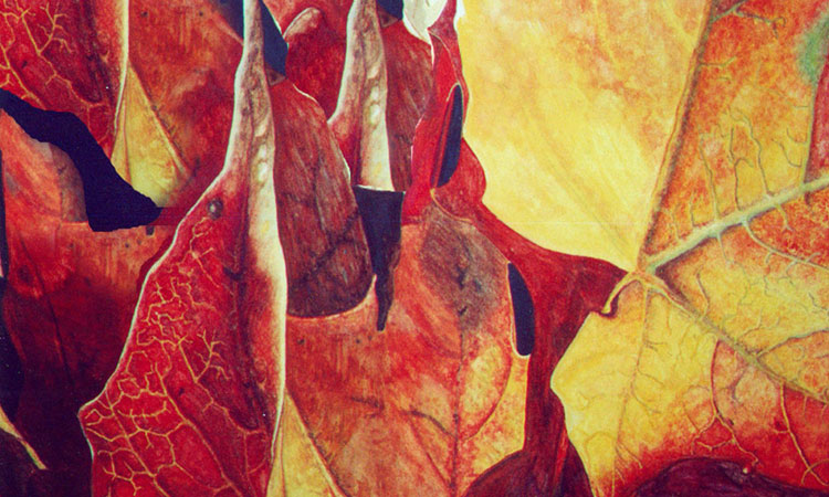 Abstracting Fall Leaves in Watercolour