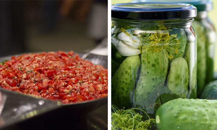 Curry Cucumber Pickles and Fresh Summer Salsa